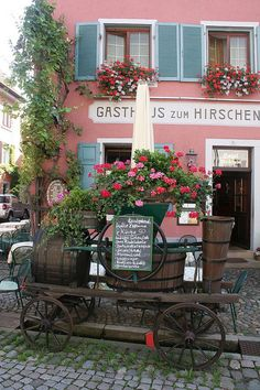 Staufen, Germany. I have a wagon just like this..got mine in Homburg!