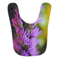Purple liatris flower bib