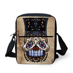 f6d18845a3 Hot vintage women messenger bags punk skull small crossbody bag for