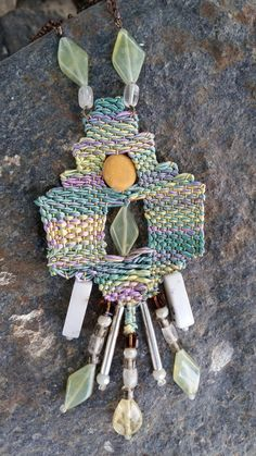 needleweaved necklace by Kissiris on Etsy