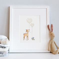 A B O U T Fine Art Giclée print, printed with pigment inks on high quality acid-free archival paper. The print is hand stitched with cotton thread to add a final special touch. There are 24 colours to choose from. P E R S O N A L I S A T I O N Personalisation (optional & free): A name/date/message can be added, see example photo. We will write exactly what you write, so please make sure all is correct before you pay. S I Z E S  Unframed Medium Print = 12 x 10...