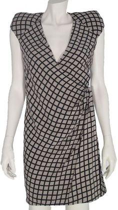 Willow Cap Sleeve Drape Dress in Gray (beige)