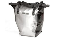 ortlieb-bike-shopper-silver-stock Bike Bag, Bicycle, Silver, Bags, Fashion, Handbags, Moda, Bike, Bicycle Kick
