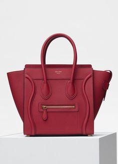 835d67c5b1d7 Micro Luggage bag in baby drummed calfskin - Céline World Of Fashion