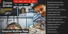 Download and review of Tattoo Studio - Responsive WordPress Theme, one of the best Themeforest Creatives themes