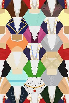 A patchwork made from the costumes from Hamilton! • Also buy this artwork on wall prints, apparel, stickers, and more.