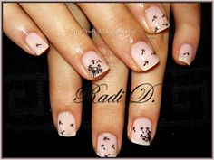 Dandelion clock nail art