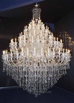 Chapter 25. An example of the Maria Theresa chandeliers in this chapter. Of course, back then, the chandeliers held real candles! ;)