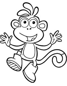 Boots Monkey Coloring Page Free Online Printable Pages Sheets For Kids Get The Latest Images Favorite