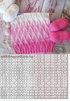 Knitting Stiches, Knitting Charts, Lace Knitting, Baby Knitting Patterns, Knitting Designs, Knitting Projects, Crochet Stitches, Stitch Patterns, Knit Crochet