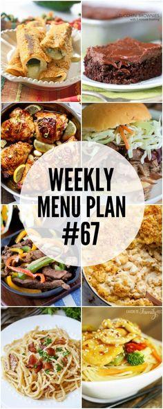 Weekly Menu Plan #67 | The Girl Who Ate Everything | Bloglovin'