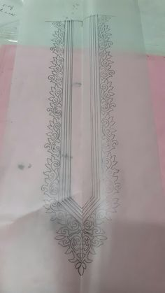 Gala. Best Border Embroidery Designs, Hand Embroidery Patterns, Fabric Patterns, Machine Embroidery Designs, Embroidery Stitches, Hand Embroidery Projects, Hand Work Embroidery, Paper Design, Designs To Draw