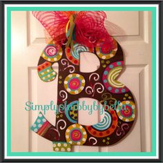Hey, I found this really awesome Etsy listing at https://www.etsy.com/listing/179779764/personalized-wooden-letterinitial-door