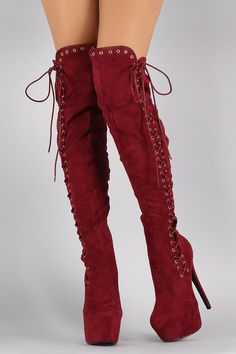 6e2f41eb233 KayDee s Boutique. Shop Suede Corset Lace Up Metal Eyelet Stiletto Boots.