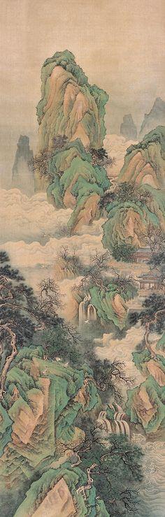 Qiu Ying (仇英) , 云海仙山图