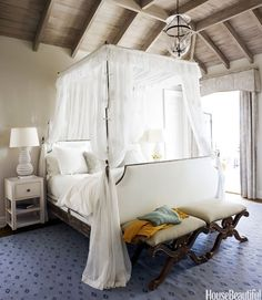 Dreamy #canopy bed. #bedroom (Photo by: Francesco Lagnese)