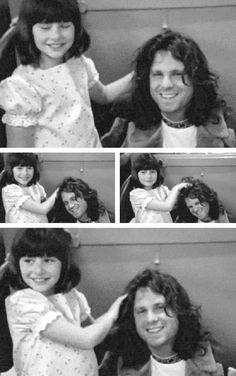 Jim Morrison and a little fan