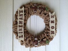 Custom order Lineman's Home wreath I made. Ladies sure do love their linemen!
