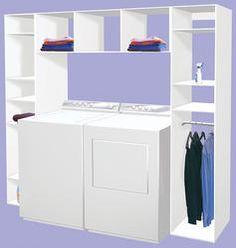 "Dakota Shelving 94-1/2"" x 15-3/4"" x 84"" Laundry Organizer at Menards"