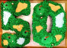 Golf Cake, 50h Birthday Cake, Golf Pull-a-part cupcake cake