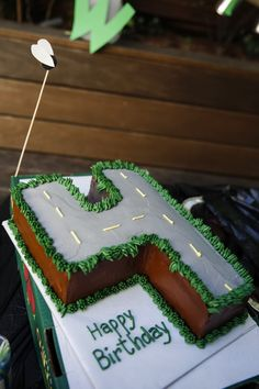 Roadway Number Cake
