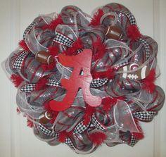 Alabama Houndstooth Deco Mesh Wreath...Roll by ChonasCreations, $60.00