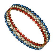 American Patriot Bracelet - 3 Rows Crystals Stars & Stripes Products http://www.amazon.com/dp/B008EUGDOK/ref=cm_sw_r_pi_dp_nUk1tb1KYD3Q1KP5