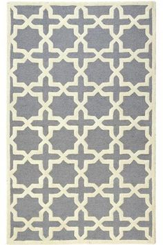 Nursery rug in a neutral grey. HomeDecorators.com