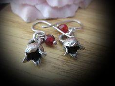 Handcrafted GARNETS & POMEGRANATES Earrings in 925 by netanela98, $25.95