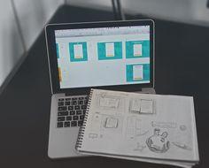 Od skicáku přes několik verzí návrhu ve SketchApp.