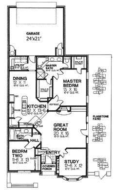 floor plans- could turn the study into another room. I like that there is two walk in closets in the master bedroom.
