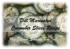 Dill Marinated Cucumber Slices