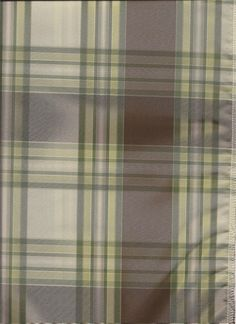 Brafferton in Walnut plaid pattern featuring chocolate brown and hues of green -classic pattern for high end custom draperies or window topper