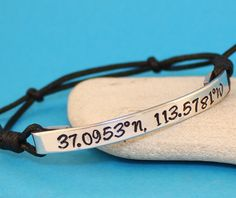 Personalized Bracelet Geographical Coordinates by keepWEARME, €8.00