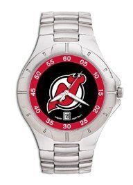 New Jersey Devils Mens Pro Ii Stainless Steel Bracelet Watch by Logo Art. $69.99. Powered by a precision Miyota three hand quartz movement with date function.. Packaged in an attractive black tin with flocked insert.. Water resistant.. Two-year limited warranty.. Show your New Jersey Devils loyalty by wearing the sporty Pro II watch by LogoArt®. The Pro II features the New Jersey Devils logo prominently centered on the colorful dial with coordinating dial ring.