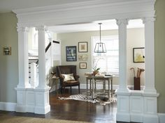 Living Room to Lobby - traditional - entry - providence - Kate Jackson Design