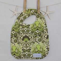 Olive Green Octopus Bib by Fun Little Things