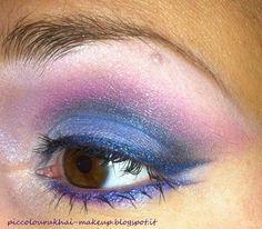 Fuchsia & Blue Eye Make Up