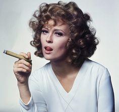 Faye Dunaway and cigars