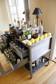love this bar cart
