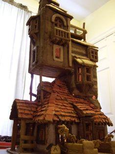 La maison des Weasley en pain d'épice.