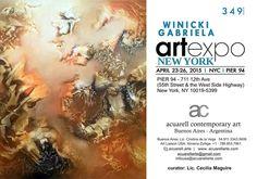"""Exposición el la Feria de Arte """"ARTEXPO NEWYORK"""", New York, USA"""