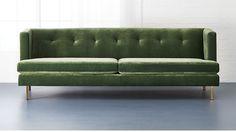avec sofa with brass legs   CB2