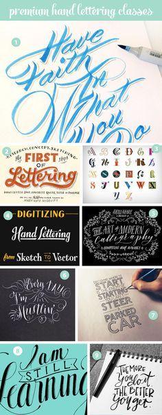 Free & premium hand lettering online classes