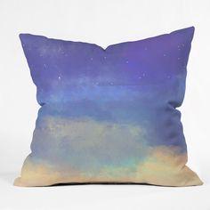 Joy Laforme Bonne Nuit Blue Throw Pillow