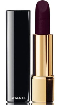 NOIR Black Beauty :: Black Chanel Lipstick. Why am I only just now learning about this color?? GORGEOUS!!!