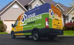 New truck wrap and brand created for a plumbing contractor in NC. - NJ Advertising Agency, NJ Ad Agency, NJ Web Design, NJ Logo Design | Graphic D-Signs, Inc. #truckwraps #advertising #design #graphicdesign #vehiclewraps #besttruckwraps #bestvehiclewraps
