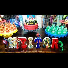 Letras 3D personalizados super heróis
