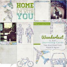 Free Wanderlust Journaling Cards from Hazel & Agnes