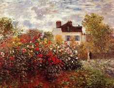 Claude Oscar Monet - Monet's garden in Argenteuil Sun